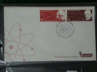 Costa Rica 2005 2v Albert Einstein & Max Planck Fdc E=mc2 photo