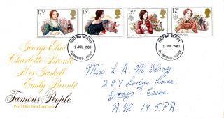 9 July 1980 Famous People Post Office First Day Cover Romford Essex Fdi photo