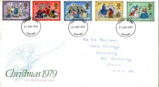 21 November 1979 Christmas Post Office First Day Cover Oxford Fdi photo