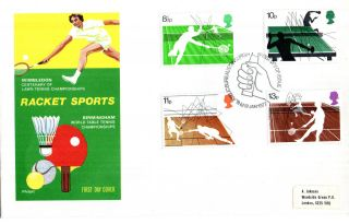 12 January 1977 Racket Sports Philart First Day Cover Bureau Shs photo