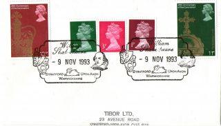 9 November 1993 Cover William Shakespeare Stratford Upon Avon Warwickshire Shs N photo