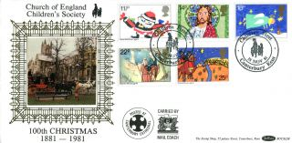 18 November 1981 Christmas Benham Bocs (2) 8 First Day Cover Canterbury Shs photo