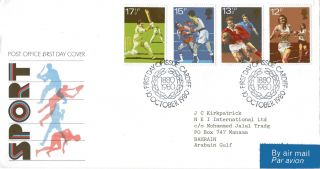 10 October 1980 Sport Centenaries Post Office First Day Cover Cardiff Shs (a) photo