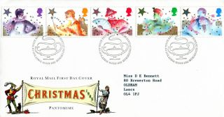 19 November 1985 Christmas Royal Mail First Day Cover Bureau Shs (w) photo