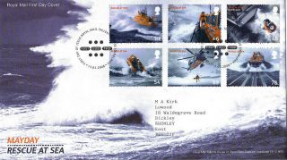 13 March 2008 Mayday Rescue At Sea Royal Mail First Day Cover Bureau Shs photo