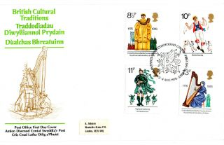 4 August 1976 British Cultural Traditions Post Off First Day Cover Cardigan Shs photo