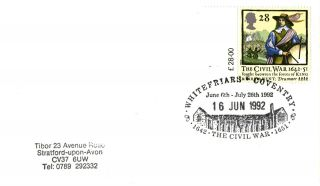 16 June 1992 Civil War Cover Whitefriars Coventry Shs photo
