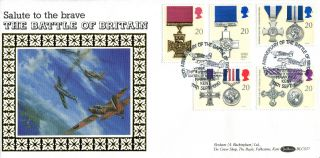 11 September 1990 Gallantry Benham Blcs 57 First Day Cover Hawkinge Kent Shs (a) photo