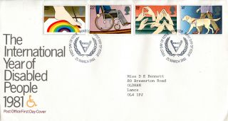 25 March 1981 Year Of Disabled People Post Office First Day Cover Windsor Shs W photo