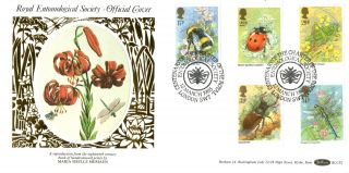 12 March 1985 British Insects Beham Blcs 2 First Day Cover Royal Society Shs A photo
