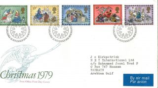 21 November 1979 Christmas First Day Cover Bureau Shs photo
