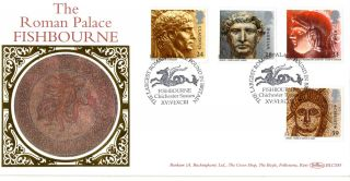 15 June 1993 Roman Britain Benham Blcs 85 First Day Cover Fishbourne Shs photo