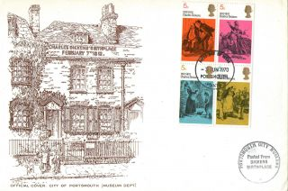 3 June 1970 Literary Anniversaries Portsmouth Museum First Day Cover Better Fdi photo