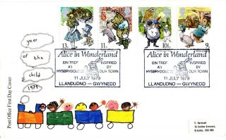 11 July 1979 International Year Of The Child Po Fdc Alice In Wonderland Shs photo