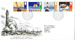 18 June 1985 Safety At Sea Royal Mail First Day Cover Bureau Shs photo