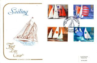 11 June 1975 Sailing Cotswold First Day Cover Royal Dorset Yacht Club Shs photo
