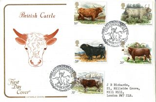 6 March 1984 British Cattle Cotswold First Day Cover Chillingham Bull Shs photo