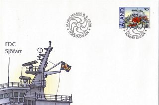 Aland 1998 Car Ferry Isabella Unaddressed First Day Cover Shs photo