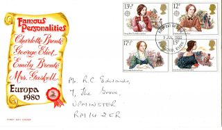 9 July 1980 Famous People Mercury First Day Cover Romford Essex Fdi photo