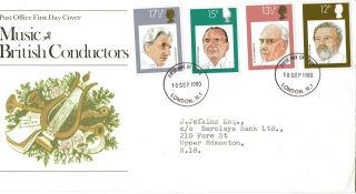 1980 British Conductors Post Office First Day Cover London N1 Fdi photo