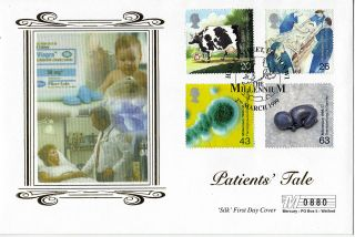 2 March 1999 Patients Tale Mercury Silk Limited Edition First Day Cover Shs photo