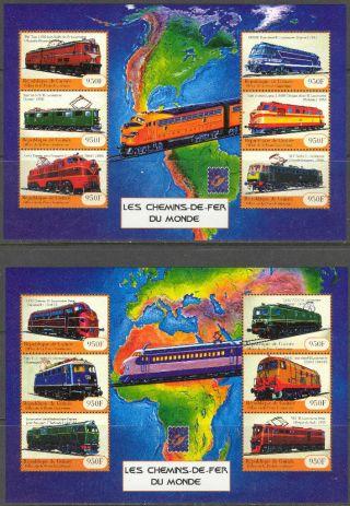 Guinea 2001 Trains Locomotives Ii 2 Sheet Of 6 photo