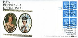 10 January 1990 Penny Black Anniversary 15p Cylinder Benham D126 Fdc London photo