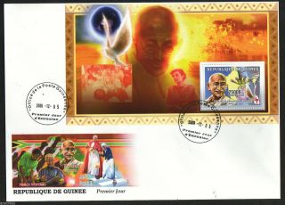 Republique De Guinee 2006 Mahatma Gandhi M/s Fdc 62552 photo