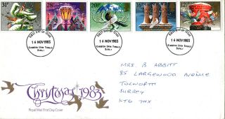 16 November 1983 Christmas Royal Mail First Day Cover Kingston Upon Thames Fdi photo