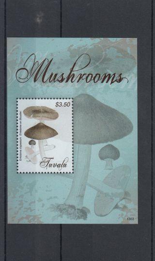 Tuvalu 2013 Mushrooms 1v S/s Nature Fungi Entelome En Boudier photo