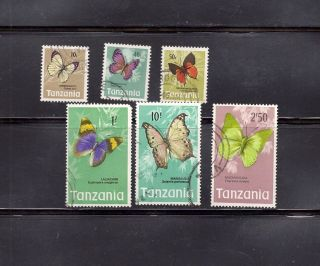Tanzania 1973 Butterflies Scott 36//48 Cancelled photo