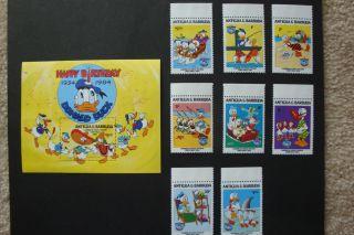 Disney - Donald Duck Happy Birthday 1934 - 1984 - Souvenir Sheet photo