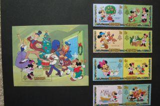 Disney - The Twelve Days Of Christmas 1982.  X14470a - Souvenir Sheet photo