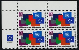 Micronesia 153 Tl Block Flags United Nations photo