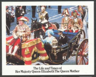 Fiji 1985 The Life And Times Her Majestry Queen Elizabeth Block photo