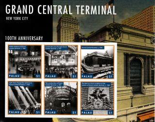 Palau 2013 Grand Central Terminal 6v M/s York City 100th Anniversary photo