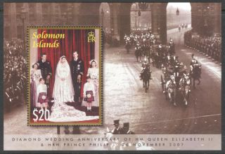 Solomon 2007 Diamond Wedding Anniv.  Of Queen Elizabeth Ii Block photo