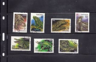 Tanzania 1993 Reptiles Scott 1128 - 34 Cancelled photo