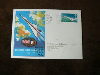 1969 Pre - Decimal Fdc: Concorde Maiden Flight,  Plane,  Aircraft photo