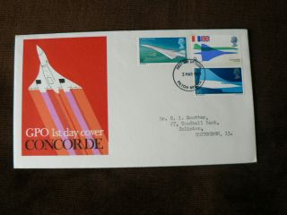 1969 Pre - Decimal Fdc: Concorde,  Plane,  Aircraft photo