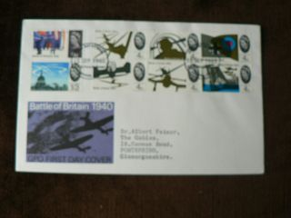 1965 Pre - Decimal Fdc: Battle Of Britain,  Plane,  Aircraft,  Raf photo