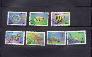 Tanzania 1995 Marine Life Scott 1404 - 10 Cancelled photo