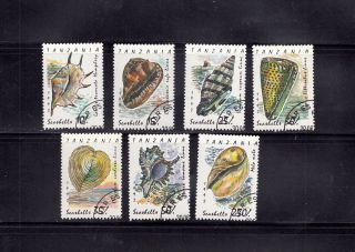 Tanzania 1992 Shells Scott 940 - 46 Cancelled photo