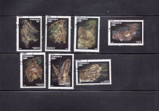 Tanzania 1995 Bats Scott 1396 - 1402 Cancelled photo