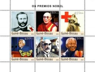 Guinea - Bissau - Nobel Prize Winners,  Dunant,  Tutu 6 Stamp Sheet Gb3217 photo