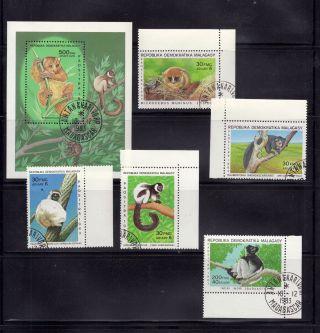 Madagascar (malagasy) 1983 Lemurs Scott 666 - 371 Cancelled photo