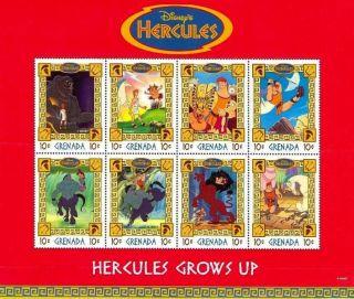 Hercules Disney 1998 Grenada Perf.  8v S/s photo