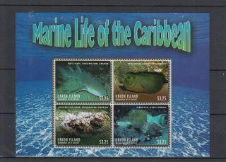 Union Island Grenadines St Vincent 2013 Marine Life Caribbean 4v M/s Shark photo