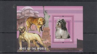 Union Island Grenadines St Vincent 2013 Dogs Of World I 1v S/s Lhasa Apso photo
