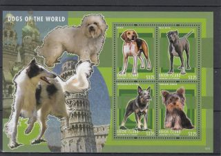 Union Island Grenadines St Vincent 2013 Dogs Of World Ii 4v M/s Beagle Pets photo